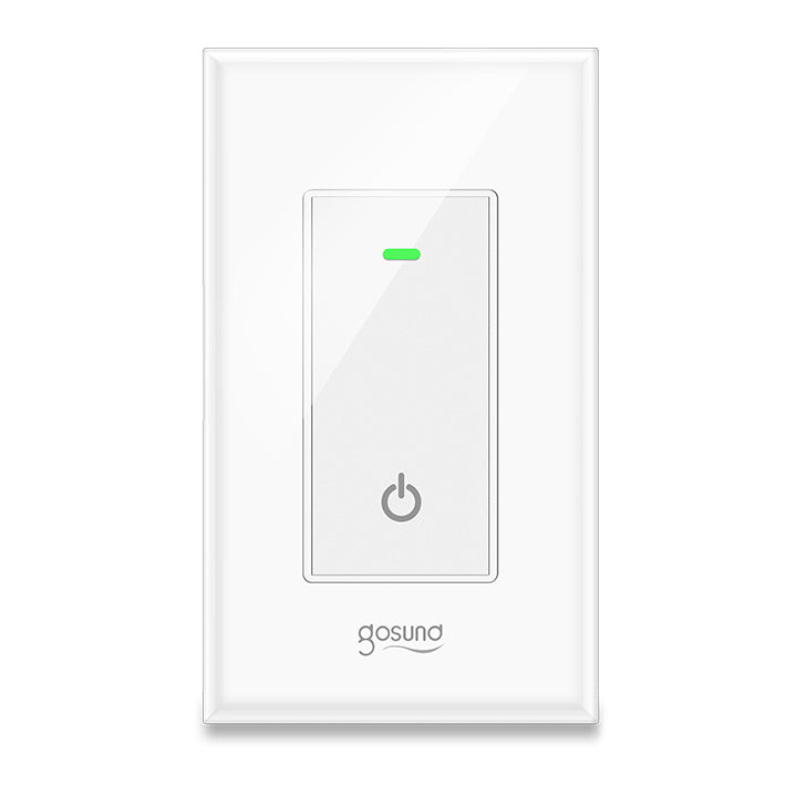 Smart Switch, Gosund Smart Switch Works with Alexa, Google home and IFTTT, with Remote Control and Schedule, Neutral Wire Required, Single-Pole, No Hub required, ETL and FCC listed--ONLY FOR USA