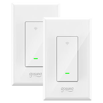 Gosund Smart Switch, Smart Light Switch Works with Alexa, Google home and IFTTT, with Remote Control and Schedule, Needs Neutral Wire, Single-Pole, No Hub required, ETL and FCC listed (2 Pack) ONLY FOR USA