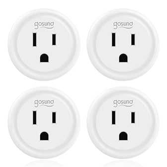 Gosund Smart plug Wifi Outlet Works With Alexa, Google Home & IFTTT, No Hub Required, Remote Control Your Home Appliances from Anywhere, ETL Certified,Only Supports 2.4GHz Network 4 Packs (Only for USA)