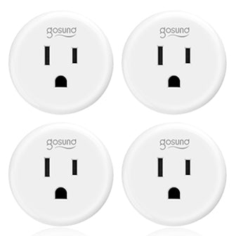 Smart Plug Gosund Smart Wifi Outlet Works with Alexa and Google Home, 2.4G Wifi Only, No Hub Required, ETL and FCC Listed 4 Pack (Only for USA)