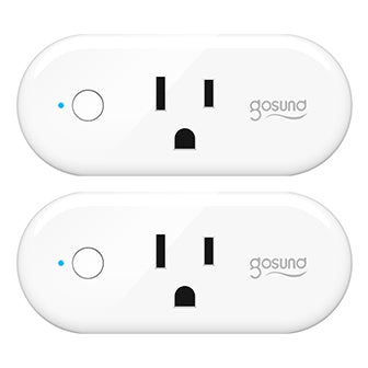 Smart Plug Gosund 16A Smart Wifi Outlet Compatible with Alexa and Google Home Voice Assistant, No Hub Required, 2.4G Wifi Only (Only for USA)