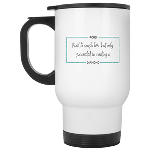 PCOS Diamond Block Travel Mugs