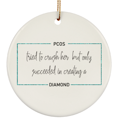 PCOS Diamond Block Ornaments