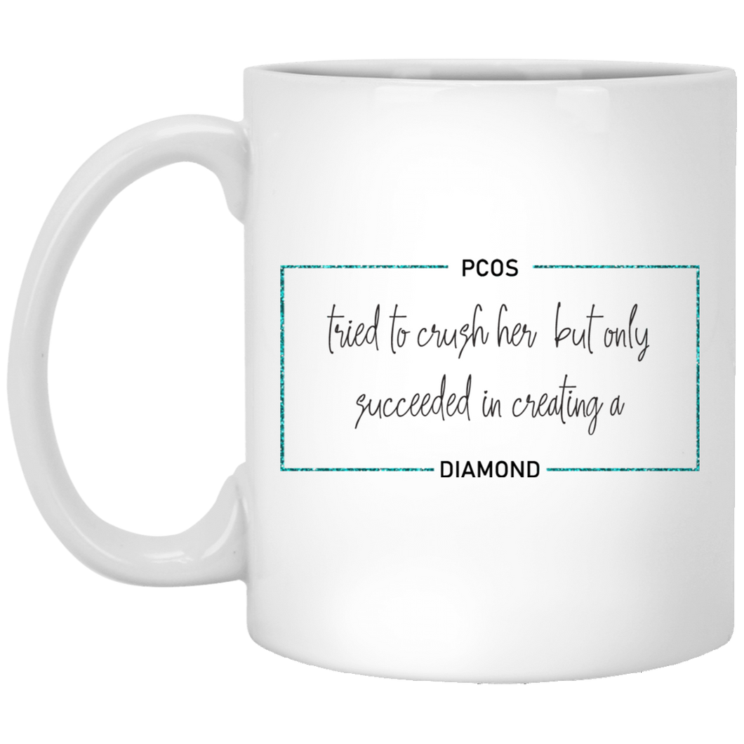 PCOS Diamond Block Mug
