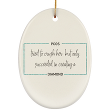 Load image into Gallery viewer, PCOS Diamond Block Ornaments