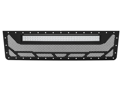 "1992-1998 Ford F-250 / F-350 OBS, Full Replacement Grille 3 with 20"" Light Bar"