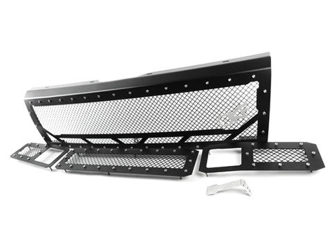 1992-1998 Ford F-250/350 OBS, Full Replacement Grille Combo