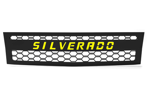 2007.5-2010 Chevy Silverado 2500/3500, Grille 1 Yellow