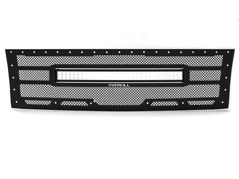 "2007.5-2010 Chevy Silverado 2500/3500, Grille 3 with 30"" LED Light Bar"