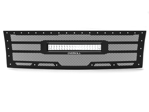 "2007.5-2010 Chevy Silverado 2500/3500, Grille 8 with 20"" LED Light Bar"