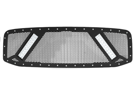 2003-2005 Dodge Ram 2500/3500/4500 Grille Insert, 2x 10in LED, (3rd Gen) Grille 6