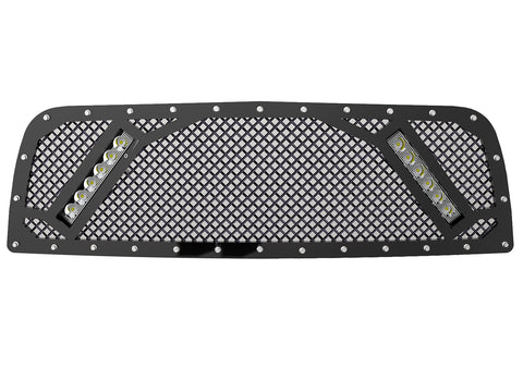 "2010-2012 Ram 1500 (4th Gen) Grille, with 2x 10"" LED Lights"