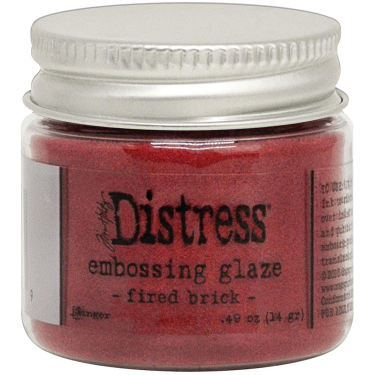 Distress Embossing Glaze - Fired Brick