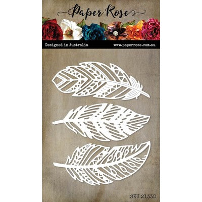Paper Rose - Feather Trio Die Set