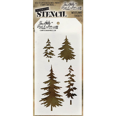 Stampers Anonymous - Tim Holtz Woodland Layering Stencil