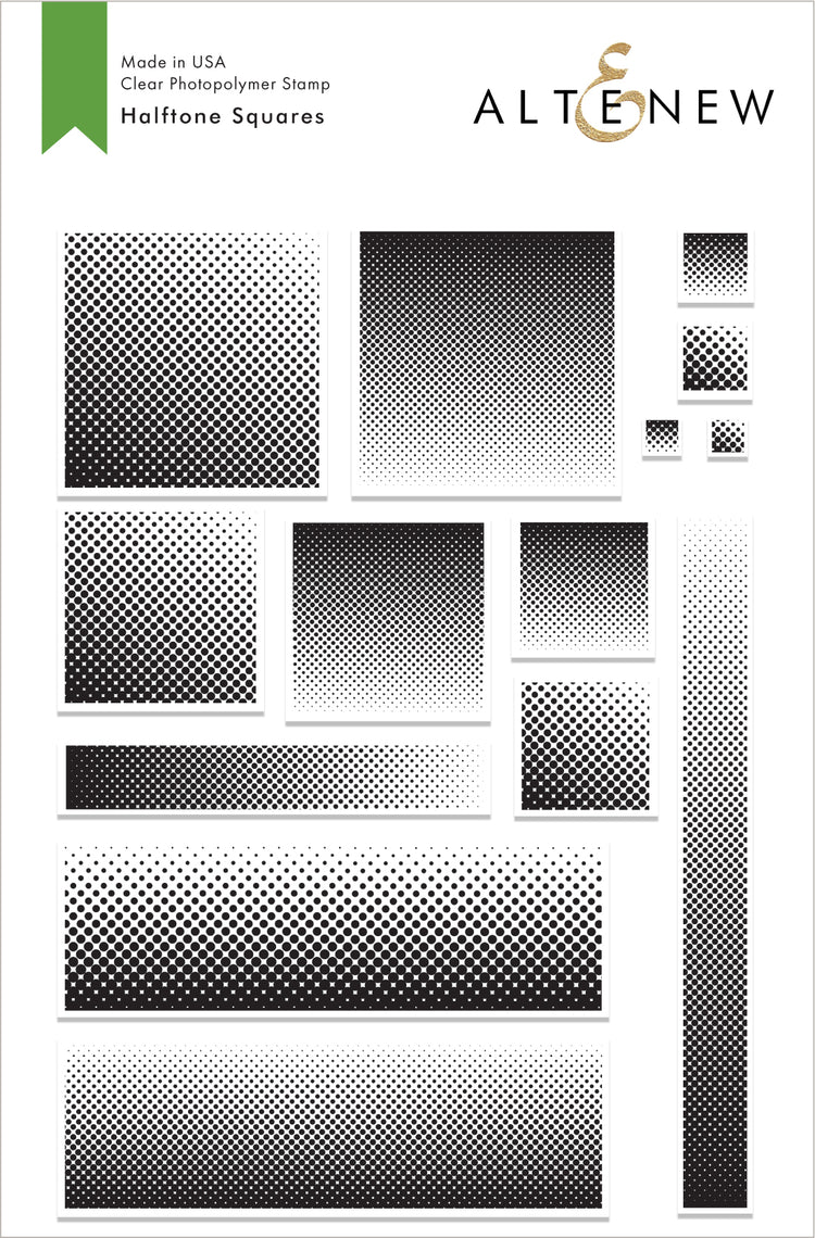 Halftone Squares Stamp and Die Combo