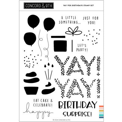 Concord & 9th - Yay for Birthdays Stamp Set