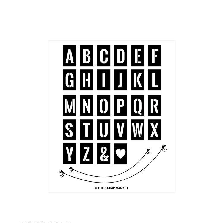 Stencil Alphabet Stamp Set