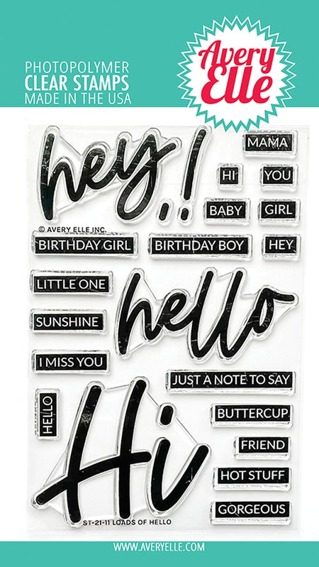 Avery Elle - Loads of Hello Stamp Set