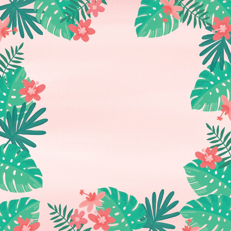 My Mind's Eye - Palm Beach - Leaves Cardstock