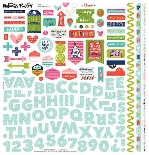 Advent Fundamental Sticker Sheet