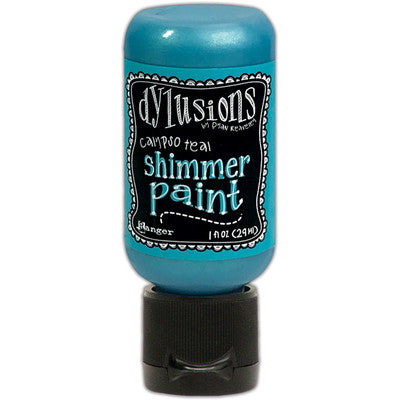 Dylusions Shimmer Paint - Calypso Teal