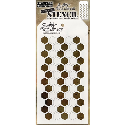 Stampers Anonymous - Tim Holtz Shifter Hex Layering Stencil