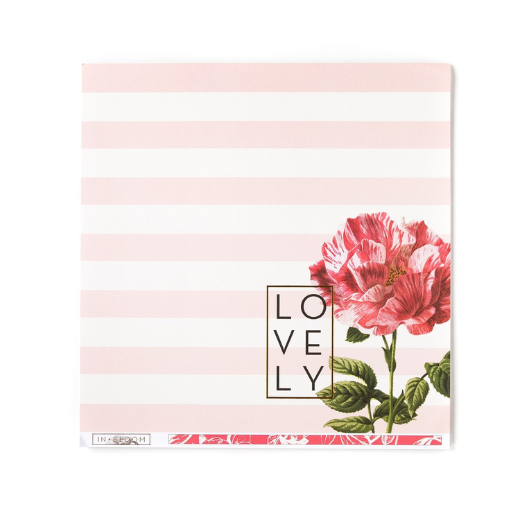 In Bloom - Lovely Bloom Gold Foil Cardstock