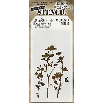 Stampers Anonymous - Tim Holtz Wildflower Layering Stencil