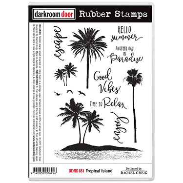 Tropical Island Rubber Stamp Set