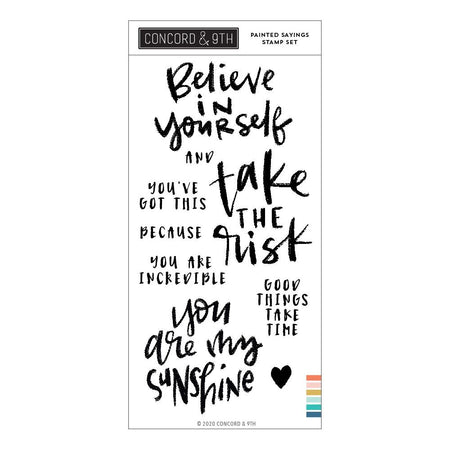 Concord & 9th - Painted Sayings Stamp Set