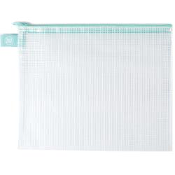 Zippered Vinyl Mesh Pouch - Large