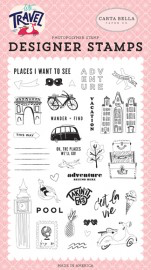Let's Travel - Adventure Begins Herel Stamp Set