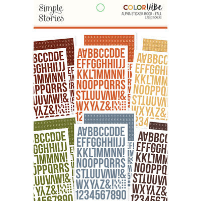 Simple Stories - Color Vibe Fall - Alpha Sticker Book