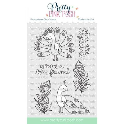 Peacock Friends Stamp Set