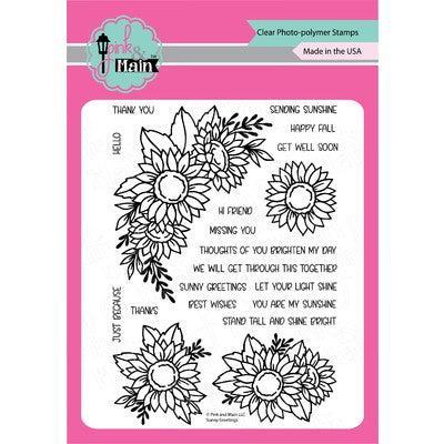 Pink & Main - Sunny Greetings Stamp & Die Combo