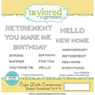 Taylored Expressions - Caps Lock Companion - Happy Occasions Stamp Set