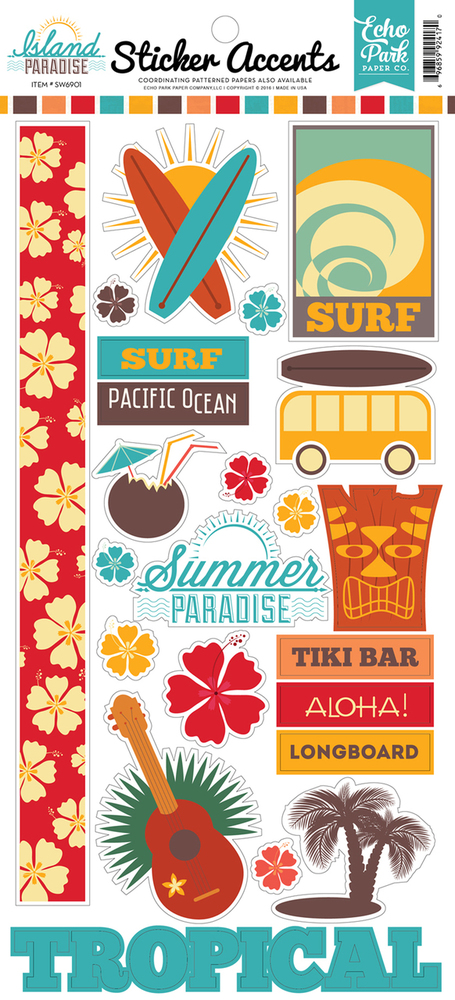 Island Paradise Sticker Accents