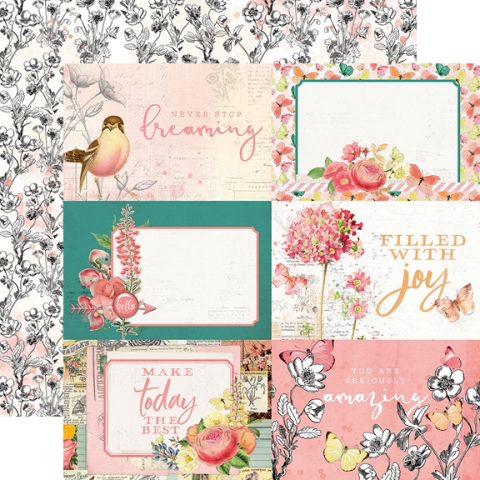 Simple Vintage Garden District - 4x6 Elements