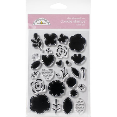 Doodlebug - I Pick You Stamp Set