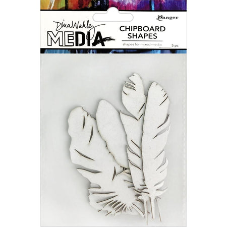Dina Wakley - Chipboard Shapes - Feathers