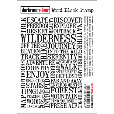 Wilderness Word Block Rubber Stamp