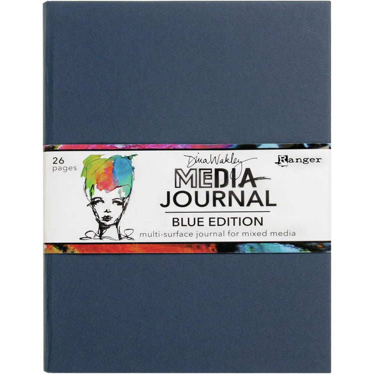 Dina Wakley - Media Journal - Blue Edition