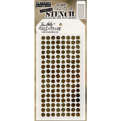 Stampers Anonymous - Tim Holtz Dotted Layering Stencil