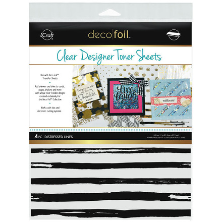 Deco Foil Clear Designer Toner Sheets - Distressed Lines