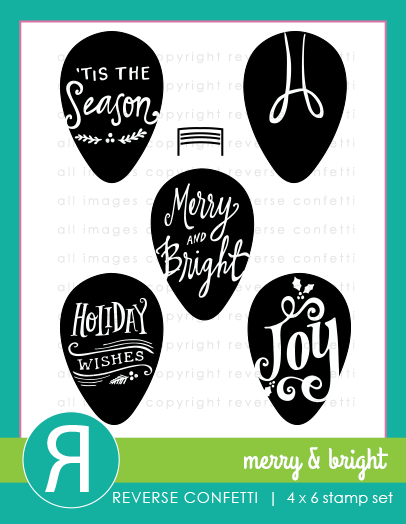 Reserve Confetti - Merry & Bright Stamp & Die Combo