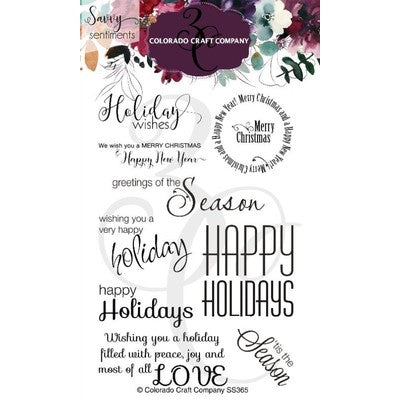 Colorado Craft Company - Holiday Wishes Stamp Set