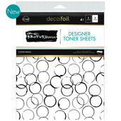 Deco Foil Toner Sheets - Coffee Rings