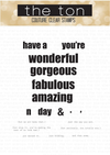 The Ton - Seriously Amazing Sentiments Stamp Set