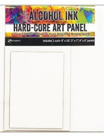 Alcohol Ink Hard Core Rectangle Art Panels